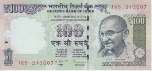 UNC India Banknote P105c 100 Rupees 2012 NO IN SET