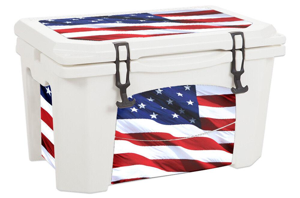 USATuff Custom Cooler Wrap Decal fits Grizzly 75qt L+I USA Stars Farbe