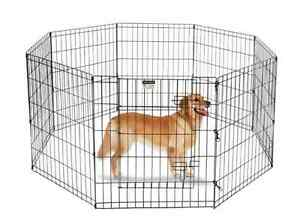 Image Is Loading Portable Dog Run Outdoor Fence Kennel Pet Fencing