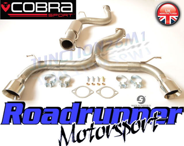 """2.5/"""" STAINLESS CAT BACK RACE EXHAUST SYSTEM FOR FORD FOCUS MK2 ST225 ST 225 05+"""