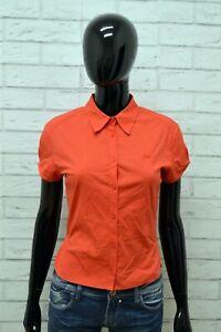 Camicia-Donna-GUESS-Taglia-Size-S-Maglia-Shirt-Woman-Camicetta-Cotone-Elastico