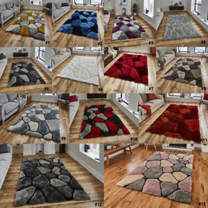 Textured Pebble Design Acrylic Rugs