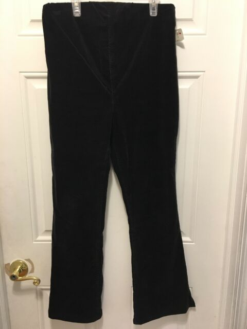 4b929050e29d6 Buy Morherhood Maternity Black Stretchy Corduroy Long Pants Side Zip Size S  Small online | eBay