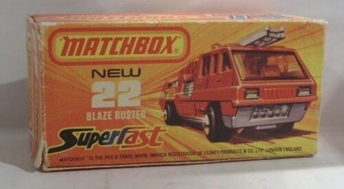 Repro Box Matchbox Superfast Nr.22 Blaze Buster