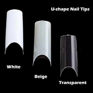 500pcs-Artificial-French-False-Acrylic-Nail-Art-Tips-White-Clear-Natural-Gel-Mxt