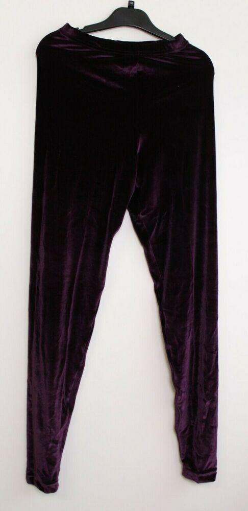 American Apparel Stretch Velvet Legging Plum Perfect Samtleggings Taille L Neuf