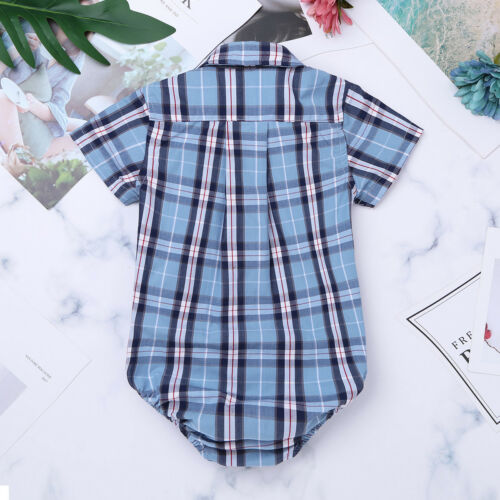 Baby Boy Girl Birthday Romper Bodysuit Newborn Formal Dress Shirt Clothes Outfit