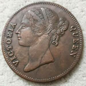 1818-queen-victoria-1-one-anna-east-india-company-uk-rare-palm-size-temple-coin