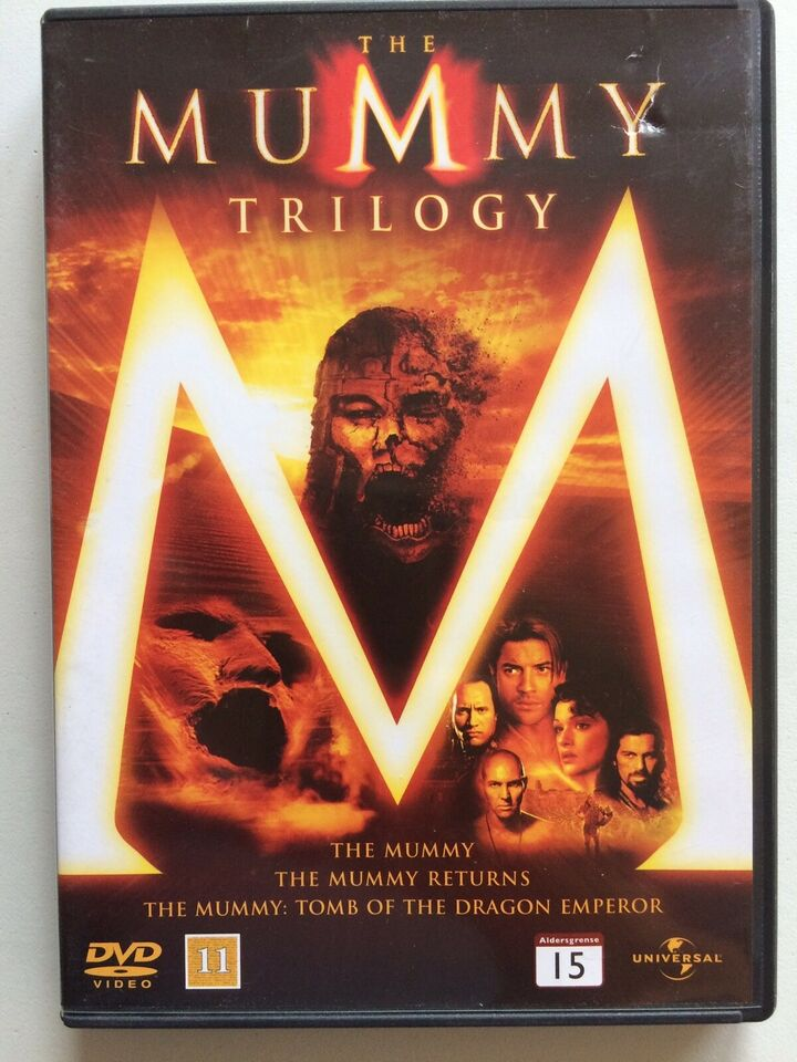 The Mummy Trilogy, DVD, action