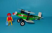 Playmobil Flughafen / Airport ~ Doppeldecker / Biplane (7726) & Anleitung