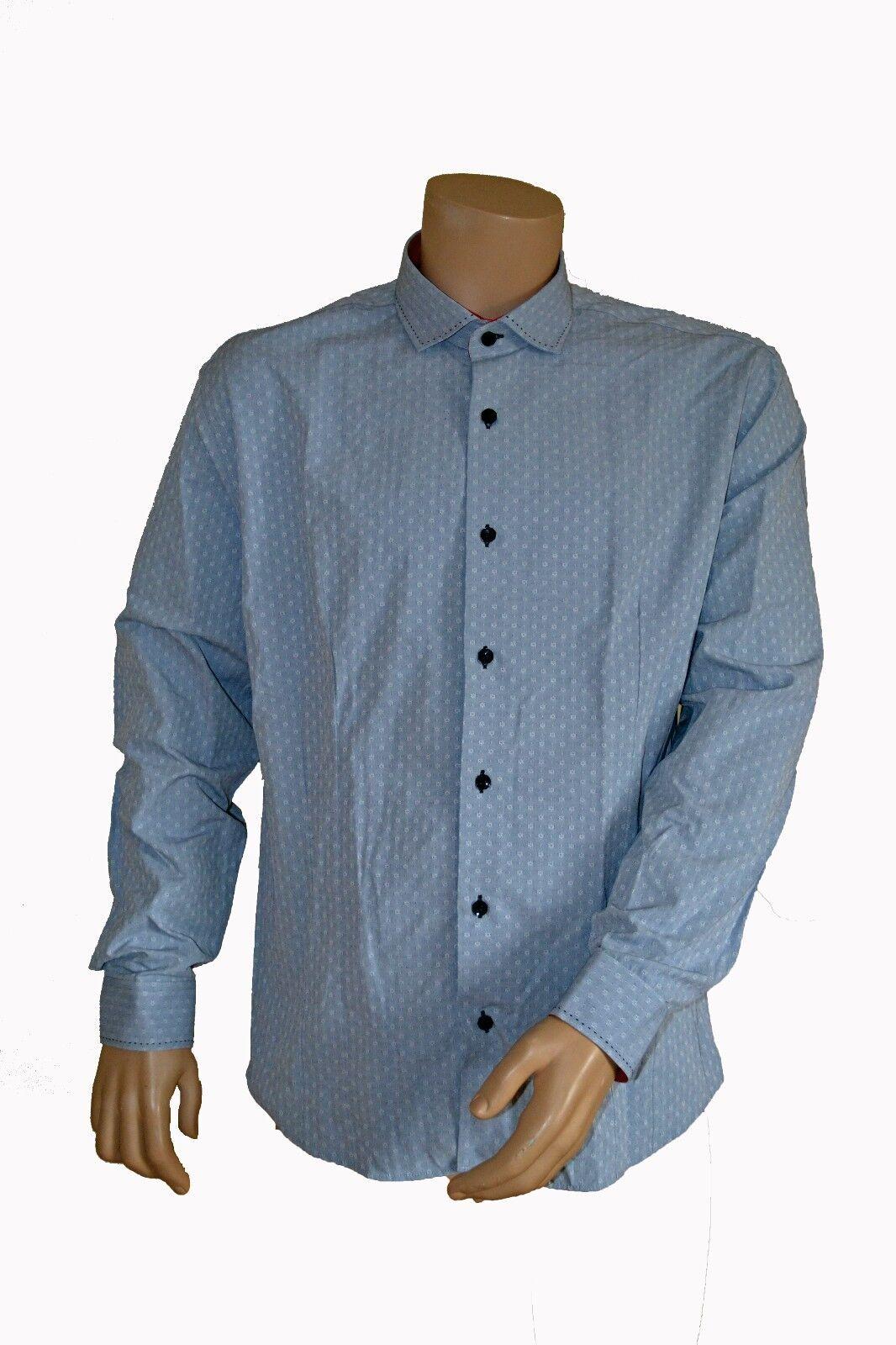 e12a44d1 BNWT BOGOSSE PEREDA BUSINESS SHIRT GREY JACQUARD CAMICIA CAMISA FORMAL  CHEMISE nojaiv2210-Dress Shirts
