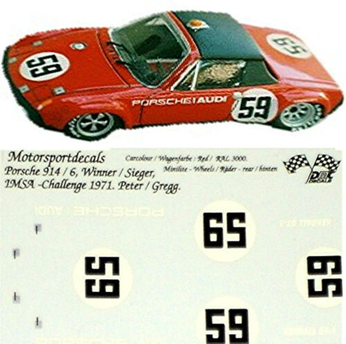 Porsche 9146 IMSA Challenge Winner 1971 143 Decal