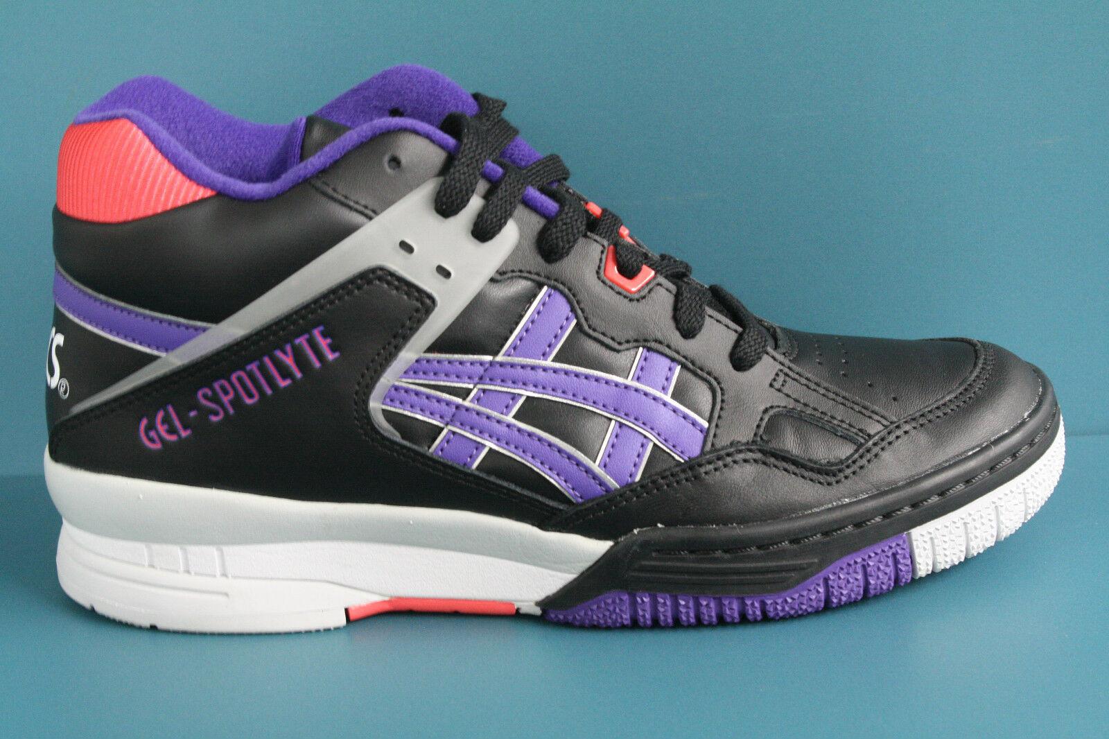 H419L-9030 Men's Asics Gel-Spotlyte Black-Purple Isiah Thomas  AUTHENTIC 100%