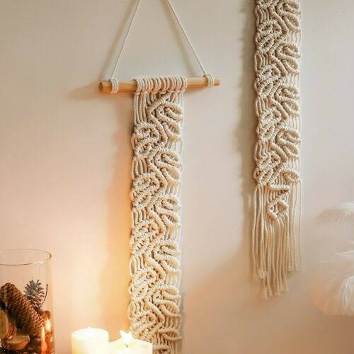 Macrame Wall Hanging Tapestry Bohemian Handmade Backdrop Art Home Decoration UK