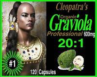 Guanabana Professional 600mg 120 Capsules 20:1 Extract 1 Cap = 20 Caps Usa