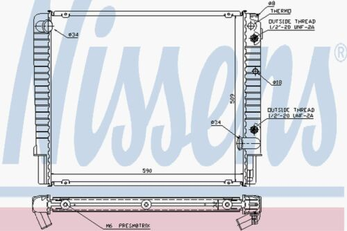 Nissens Radiator 65509A Fit with Volvo 760