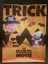 peanuts movie snoopy trick or treat halloween promo bag charlie brown new 2015