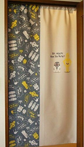 Cosmos Disney Star Wars R2-D2 and C-3PO Noren Curtain Tapestry 85x150cm from Jap