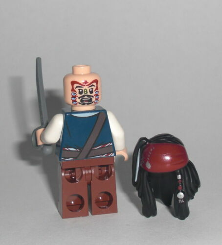 Lego® Fluch der Karibik Minifigur Jack Sparrow Cannibale aus Set 4182 Neu