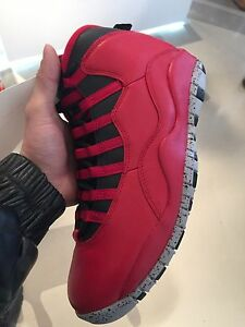 ba930e8698 Nike Air Jordan 10 Retro Bulls Over Broadway BOB Gym Red 100 ...