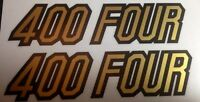 """HONDA CB400 FOUR F2 SIDE COVER DECALS """"PARAKEET YELLOW"""" MODELS"""