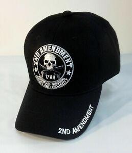 2nd Amendment Hat 1789 Black Baseball Cap