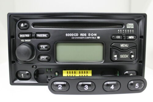 ford 6000cd rds e o n 6000ne original cd autoradio eckig ym21 18k876 kb radio ebay. Black Bedroom Furniture Sets. Home Design Ideas