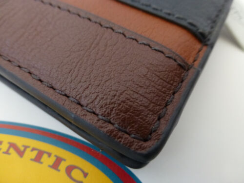 FOSSIL Tri-fold Wallet EASTON Int Traveller Black Leather Coin Wallets BNIB R£55