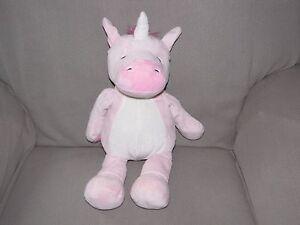 Manhattan Toy Unicorn Huggables Misty Pink Cream Plush Stuffed
