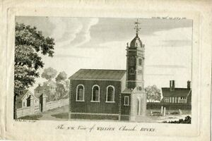 The-N-W-View-Of-Willien-Church-Bucks-Engraved-By-W-P-IN-1792