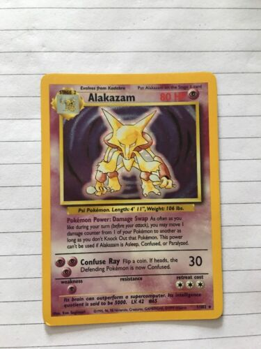 Alakazam Holo Pokemon Card
