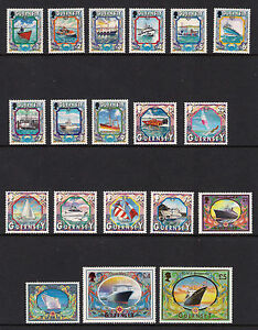 GUERNSEY 1998/05 MARITIME HERITAGE DEFINITIVE SET of 19 MNH
