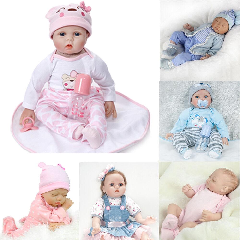 Christmas Gift Newborn Baby Doll Realistic Reborn Silicone Lifelike Boy Girl UK