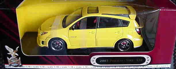 2003 pontiac vibe gelbe 1,18 straße legenden yatming 92508