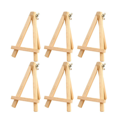 6pcs Easel Wooden Small Sturdy Display Holder Photo Frame for Painting Pictures