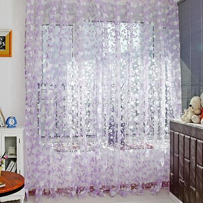 Multi-Color Assorted Sheer Curtains Window Room Divider Panel Drapes Valance New