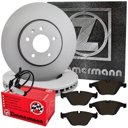 Zimmermann Bremsscheiben 336x22mm Bremsbeläge hinten BMW 3er E90 E92 mit Sensor