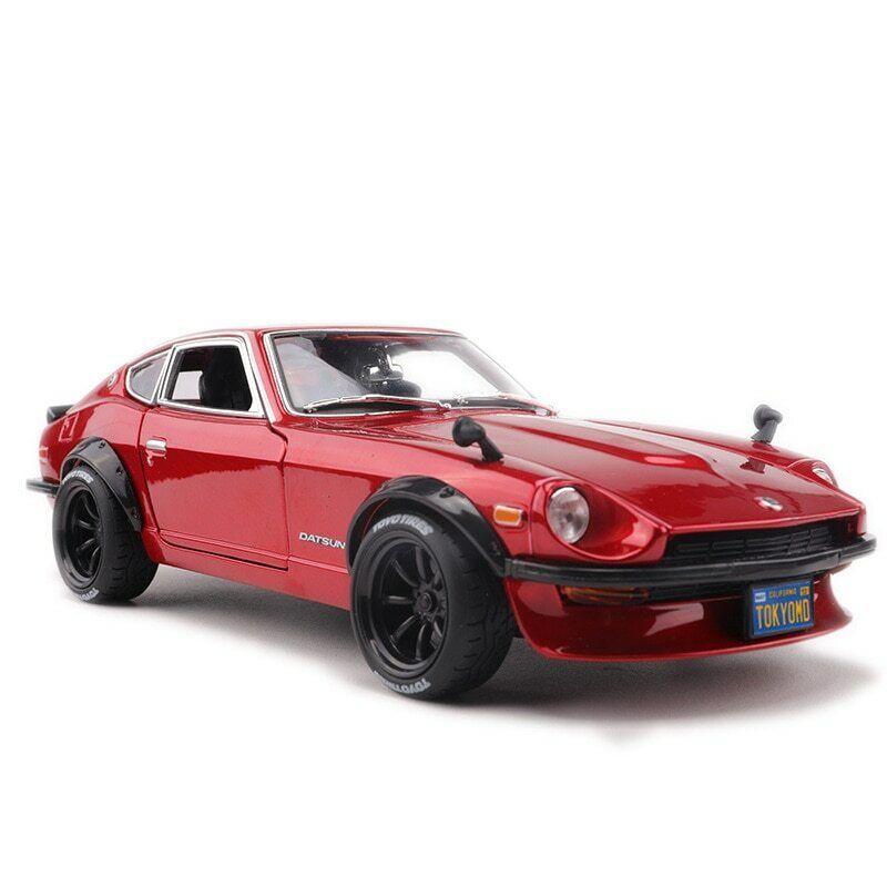Nissan Datsun 240Z 1 18 Escala Maisto Fundido Coche Modelo de Metal Rojo Devil's Edition