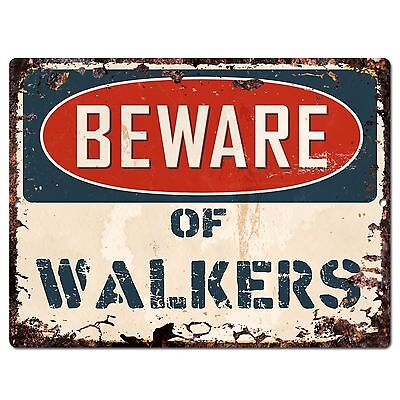 PP0973 Beware of WALKERS Plate Rustic Chic Sign Home Store Wall Decor Gift