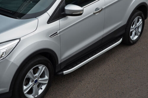 Aluminium Side Steps Bars Running Boards To Fit Ford Kuga 2013+