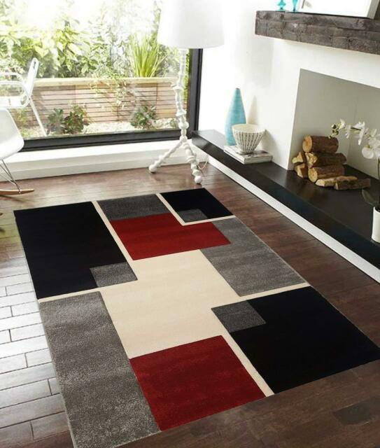 Pyramid Decor Renzo Collection Luxury Center Stage Modern  Area Rugs