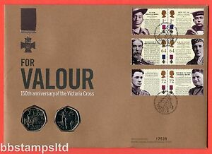 2006 RMC52 Victoria Cross150th Anniversary 2 x 50p Coin Cover. SG 2640 - 2649