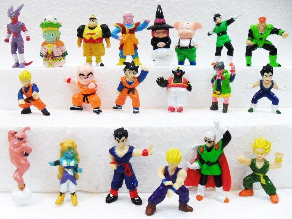 Dragon Ball SERIE DI 20 PERSONAGGI gomma plastica morbida misura cm. 3,3 4,5