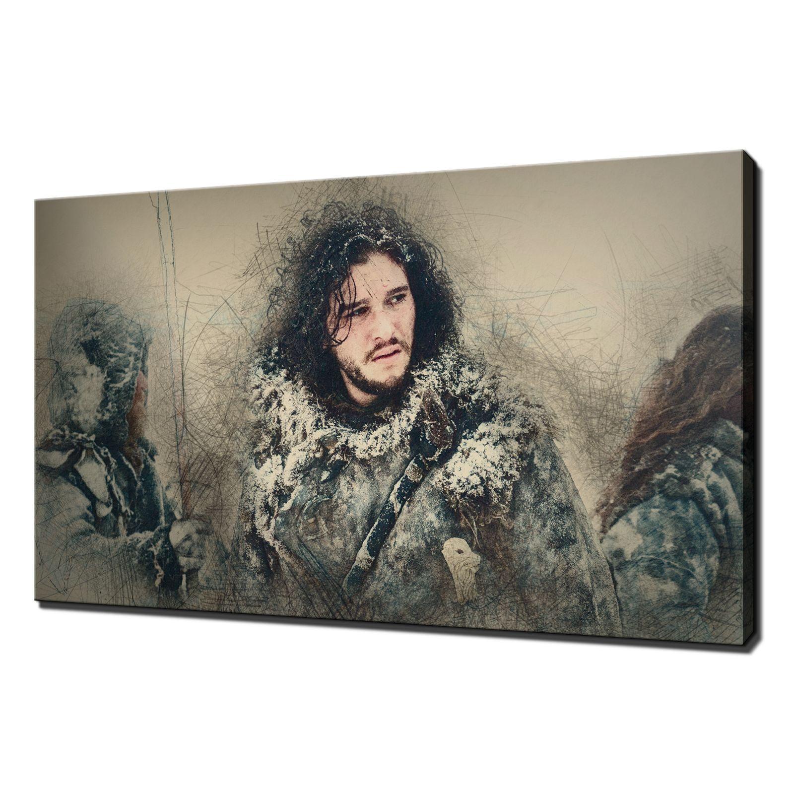 GAME of Thrones Jon Snow Tela Stampa Foto Wall Art varietà di formati