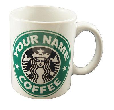 Starbucks Coffee Personalised Mug Cup Gift Name Tea Coffee Present