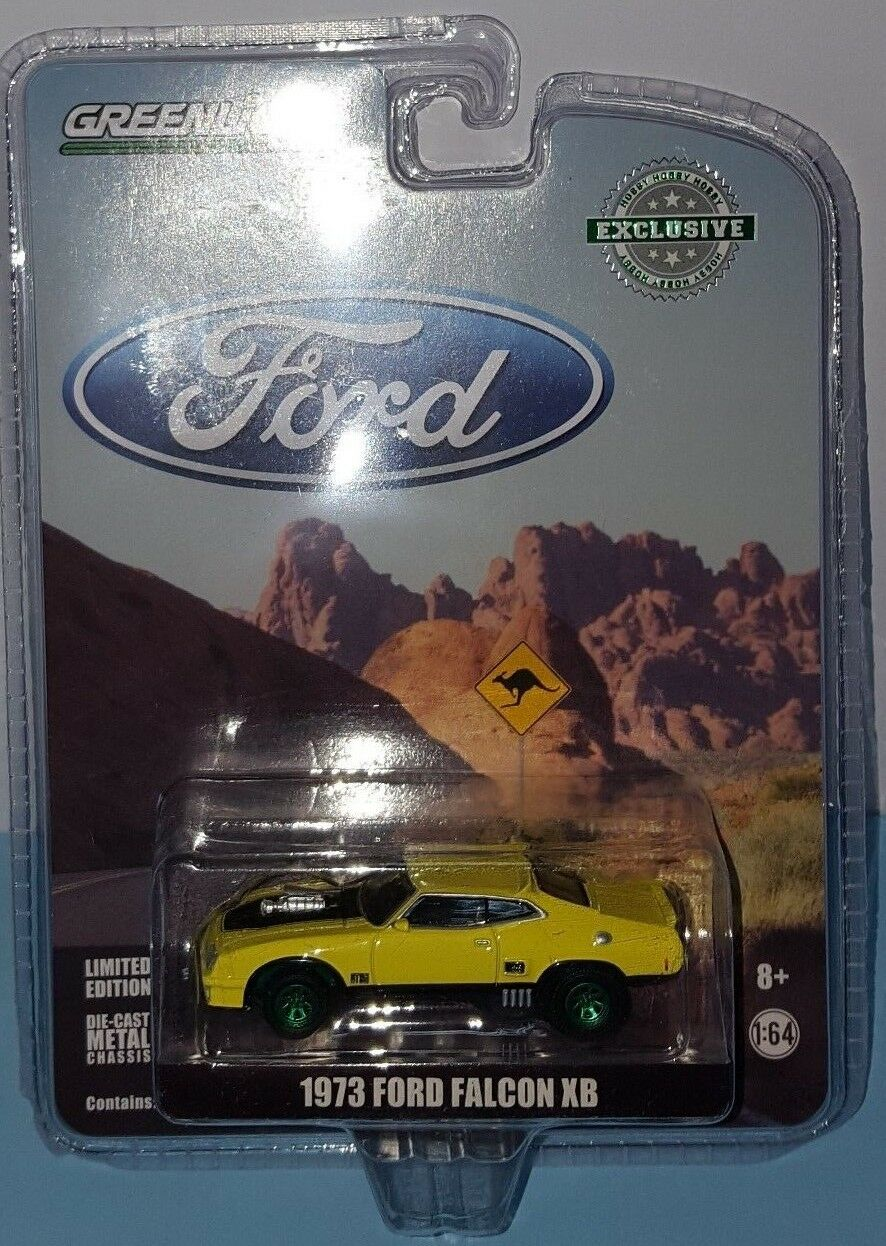1 64 GREENLIGHT 1973 FORD FALCON XB YELLOW CHASE CAR