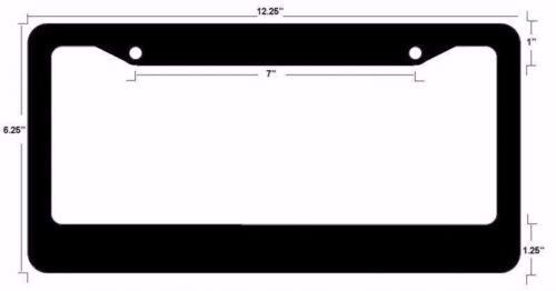 JDM RN Registered Nurse Race Drift Low Turbo Black License Plate Frame USA2 Red