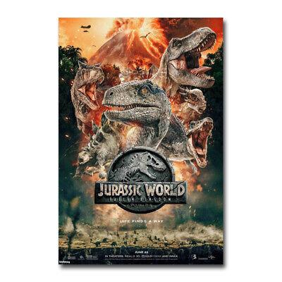 Jurassic World Fallen Kingdom Movie Art Silk Canvas Poster 13x20 24x36 inch