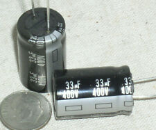 2 New Panasonic Eeu 33uf 400v 33 Mfd Radial Electrolytic Capacitor 105c Usa