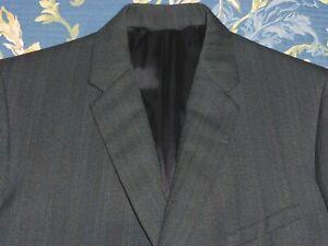 RéAliste Datée Du 1970 Montague Burton Pin Stripe Poly Tweed Suedehead Mod Costume Sizesize Vintage-afficher Le Titre D'origine